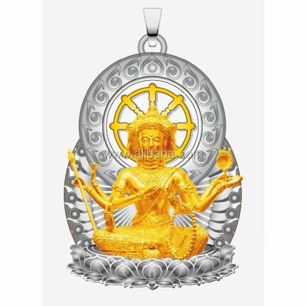 The maitreya buddha pendant gold mode with eternal rotating dharma the maitreya buddha pendant gold mode with eternal rotating dharma chakra pendant aloadofball Choice Image