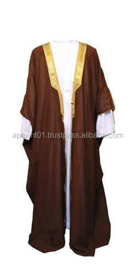 Desert Dress Brown Bisht Cloak Arab Dress Thobe Saudi Mens Robe ...