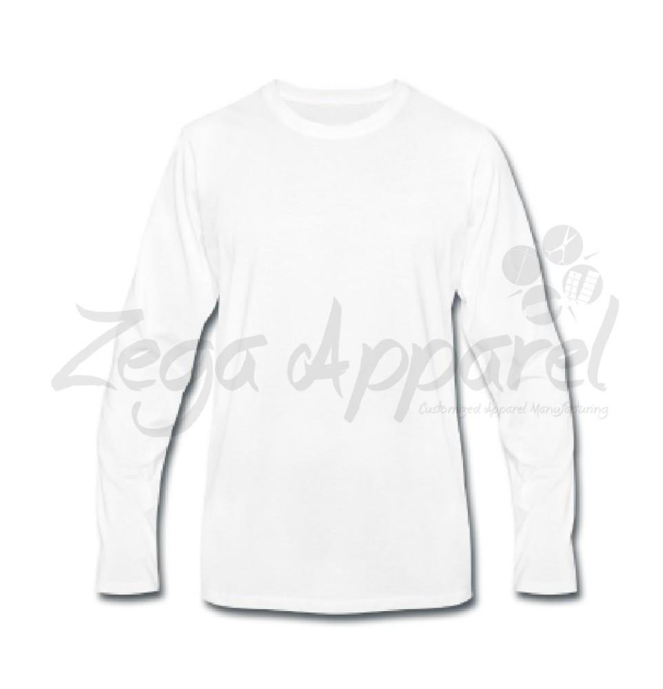 Desain Kaos Lengan Panjang Polos