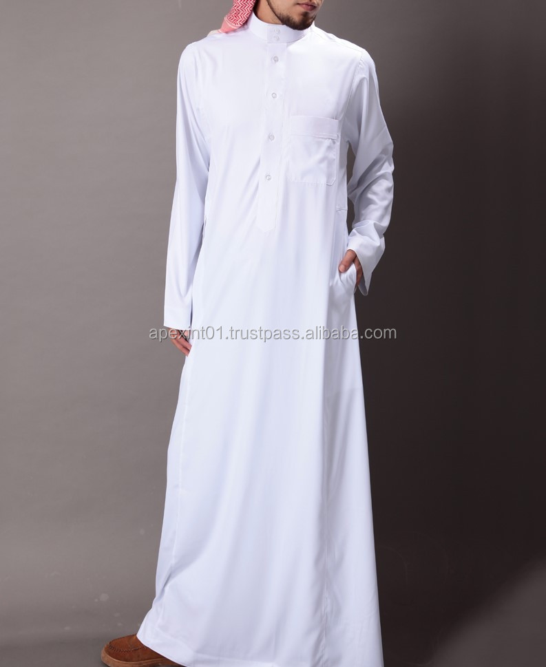 Black Thobe For Men/arabic Muslim Black Clothes For Man