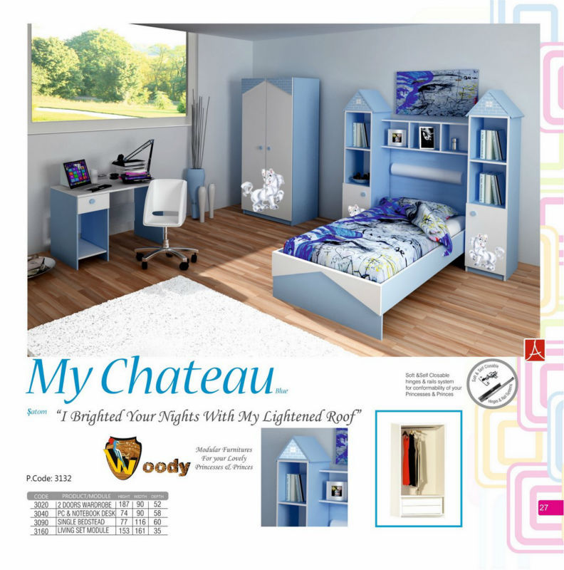 Groovy My Chateau Blue Teenage Bedroom Set With Dresser Wardrobe Nightstand Bookcase Study Desk Pc Desk Bunk And Bedstead Buy Teenager Bedroom Set Product Download Free Architecture Designs Itiscsunscenecom