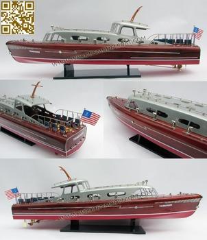 Hacker Craft Thunderbird Model Yacht WOODEN MODEL BOAT
