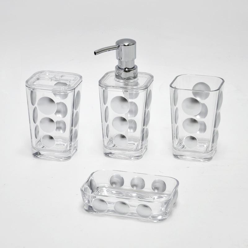 Crystal Bathroom Hardware: Hotel Style Clear Acrylic Crystal Bathroom Accessories