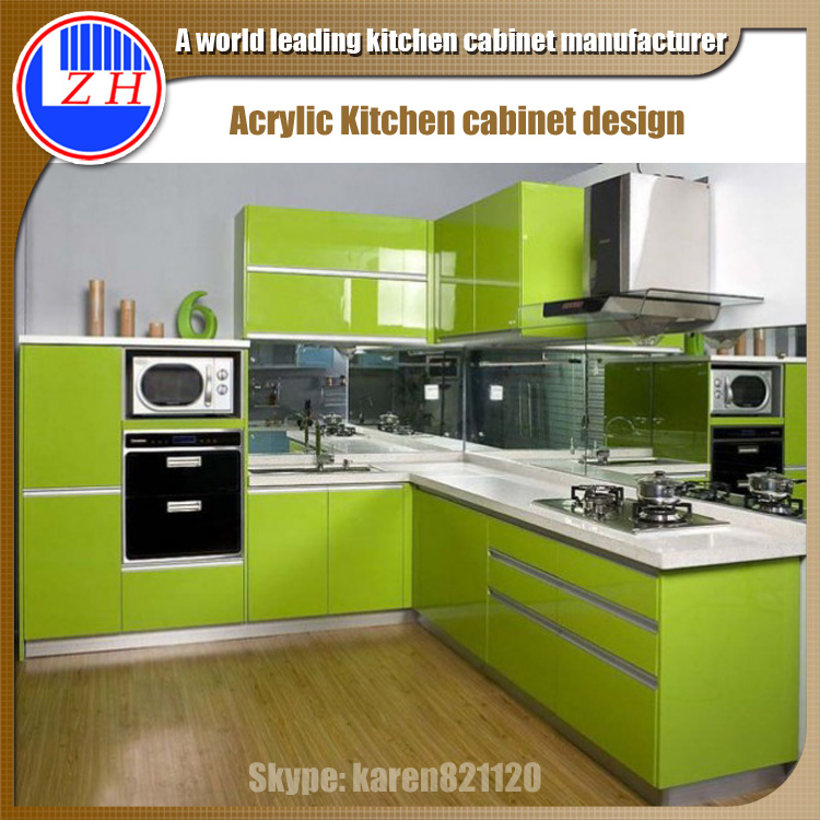 Kitchen Cabinet Doors Acrylic: Breathtaking Small Kitchen Cabinet Design With High Gloss
