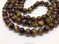 Natural Tiger Eye Eye Loose Beads Semi Precious Stone Beads Tiger Eye Beads
