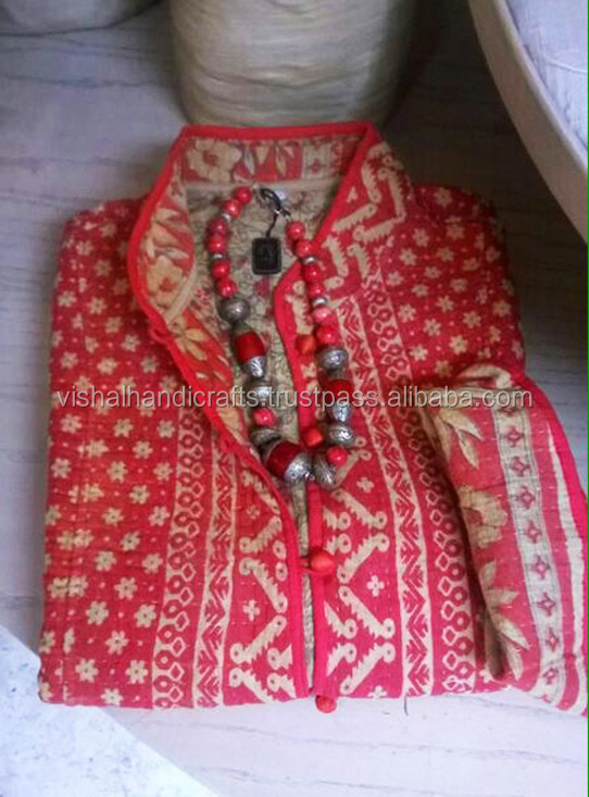 Buy ladies embroidery jackets ethnic quilted kantha
