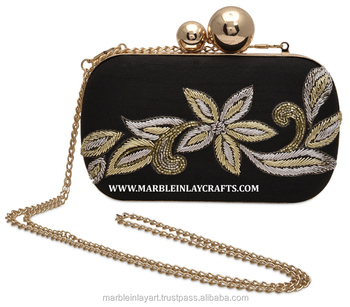 9c6046ebb8c Hand Crafted Embroidery Design Clutch Hand Purse - Buy ...