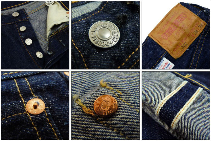67623608ad4 Specialty Japanese Selvedge Denim Jeans with vintage detail functions made  in Japan.Double Works