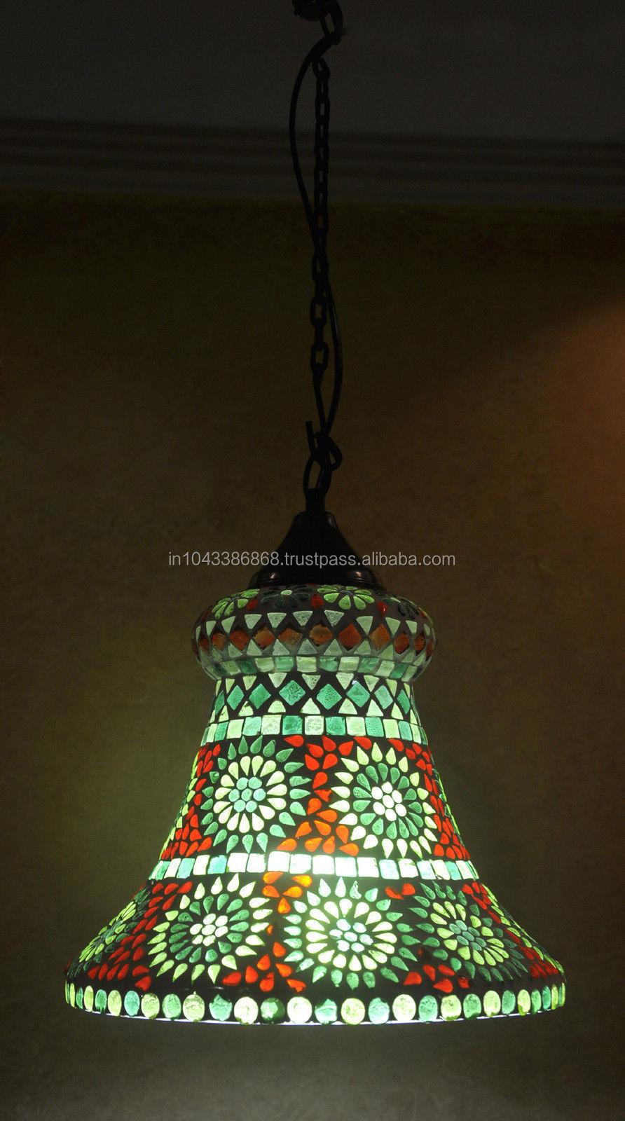Fonkelnieuw Traditionele Indiase Vintage Home Decoratieve Glazen Plafond Lamp HW-48