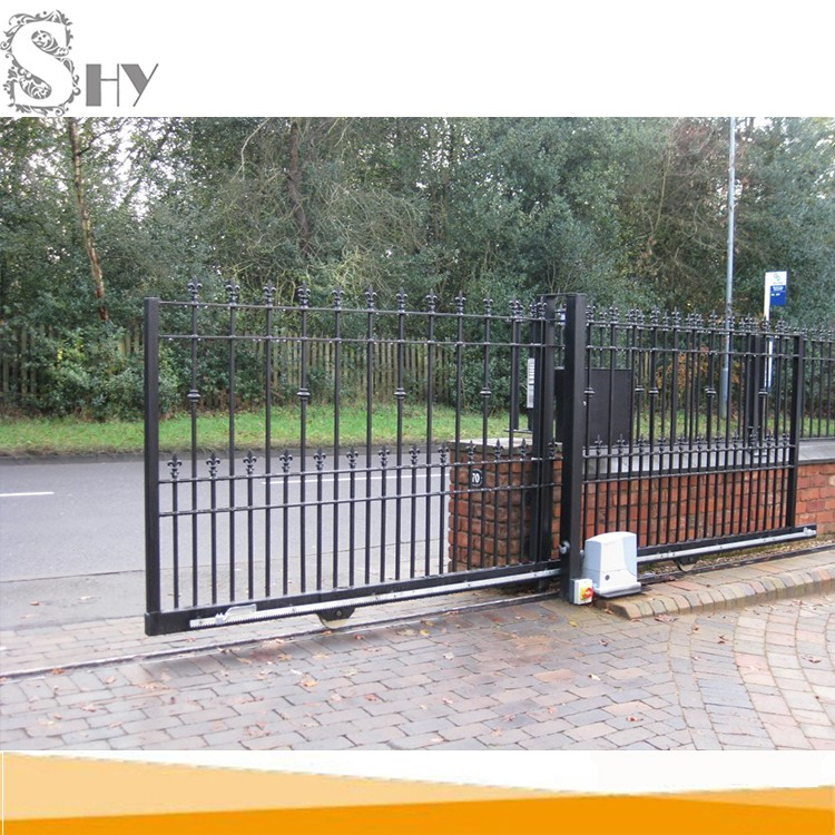 Shenghongyuan Shy Brand Design Decorative Fence Matching Sliding Gate - Buy  Sliding Gate,Sliding Main Gate Design,Driveway Sliding Gates Product on