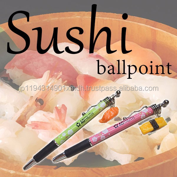 Cute high quality plastic egg toy sushi pen for souvenirs