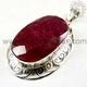 Beautiful Hot Design 925 Sterling Silver Pendant Ruby Gemstone Jewelry Wholesale Supplier Handmade Silver Jewellery