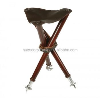 Hc-tr-s-547 Leather Tripod Seats / Tripod Stool / Hunting Wooden ...