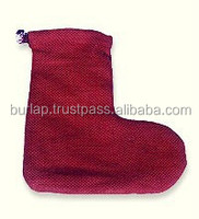100% jute red gift pouchs wholesale