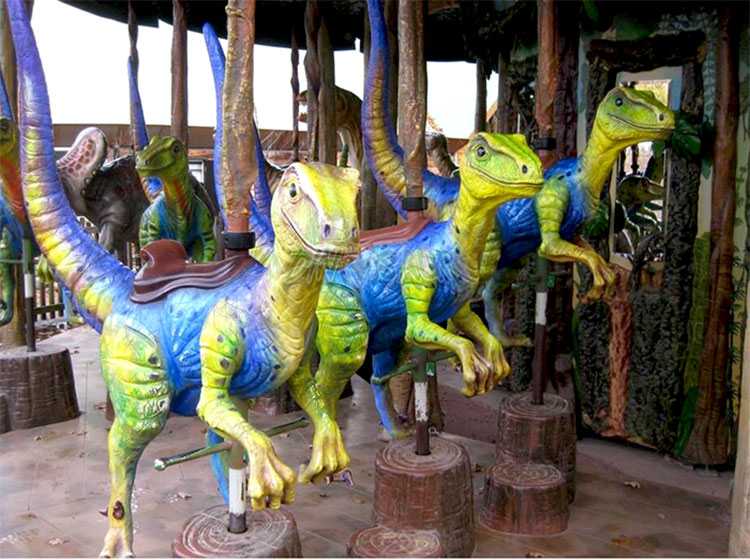 Amusement Park Equipment Kiddie Ride Dinosaur Carousel For Sale ...