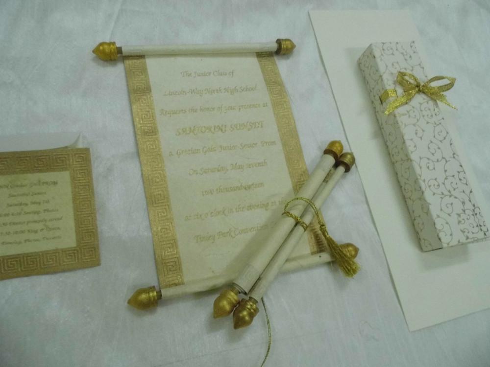 Nach Maß Leere Schriftrolle Einladung Boxen Für Hochzeit Stationers