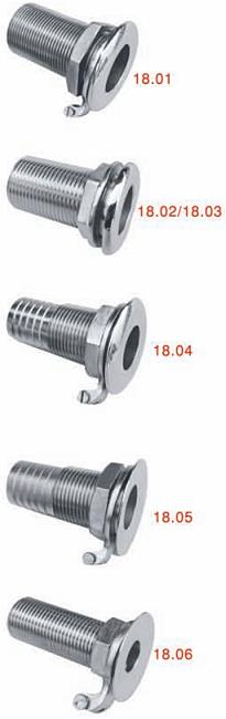 3//4 /'/' Boot durch Rumpf Fitting Zubehör 316 Edelstahl Hardware
