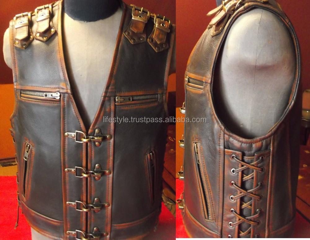 Vest Outlaw Biker Vests Custom Leather Vests Leather Vest ...