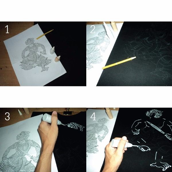 Fil çiçek Tayland Sanat T Shirt Boyali Elyaf Nadir ürünler