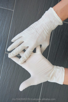 "9""Latex Examination Glove with powdered"