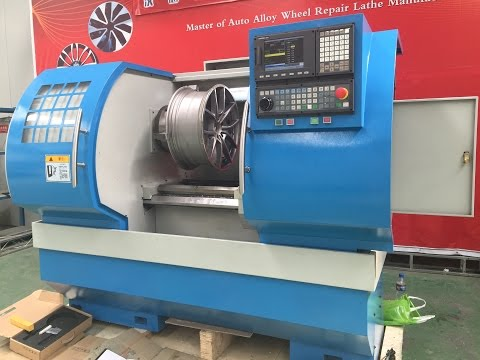 Wheel lathe for alloy wheel repair lathe rim refurbishment machine