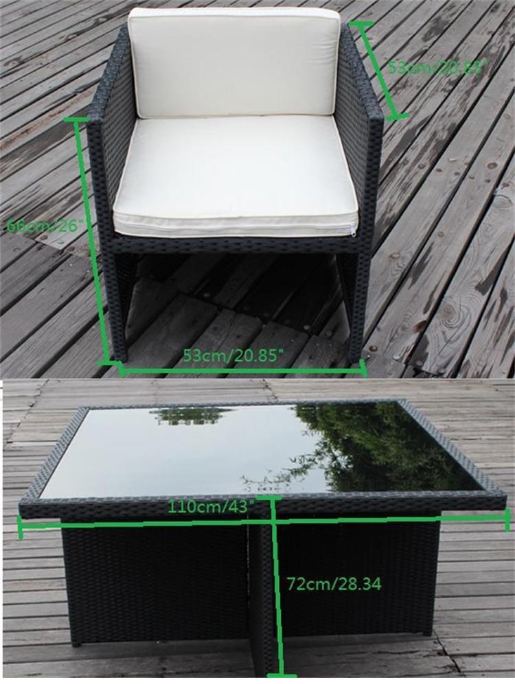 4 Sitzer Kd Außenkorb Würfel Esstischrattan Gartenmöbel Würfelcube