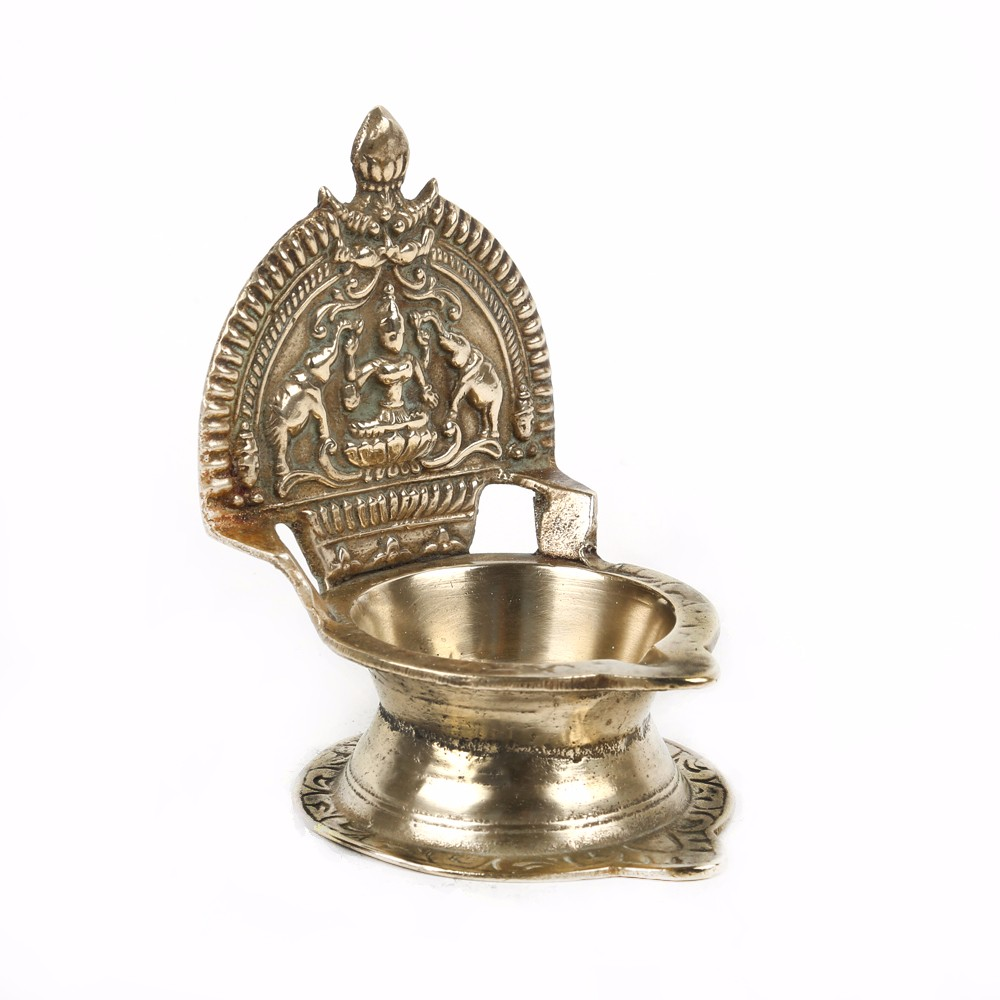 Hanging Indian Brass Oil Lamp 7 75 X 5 Inches Bol 35