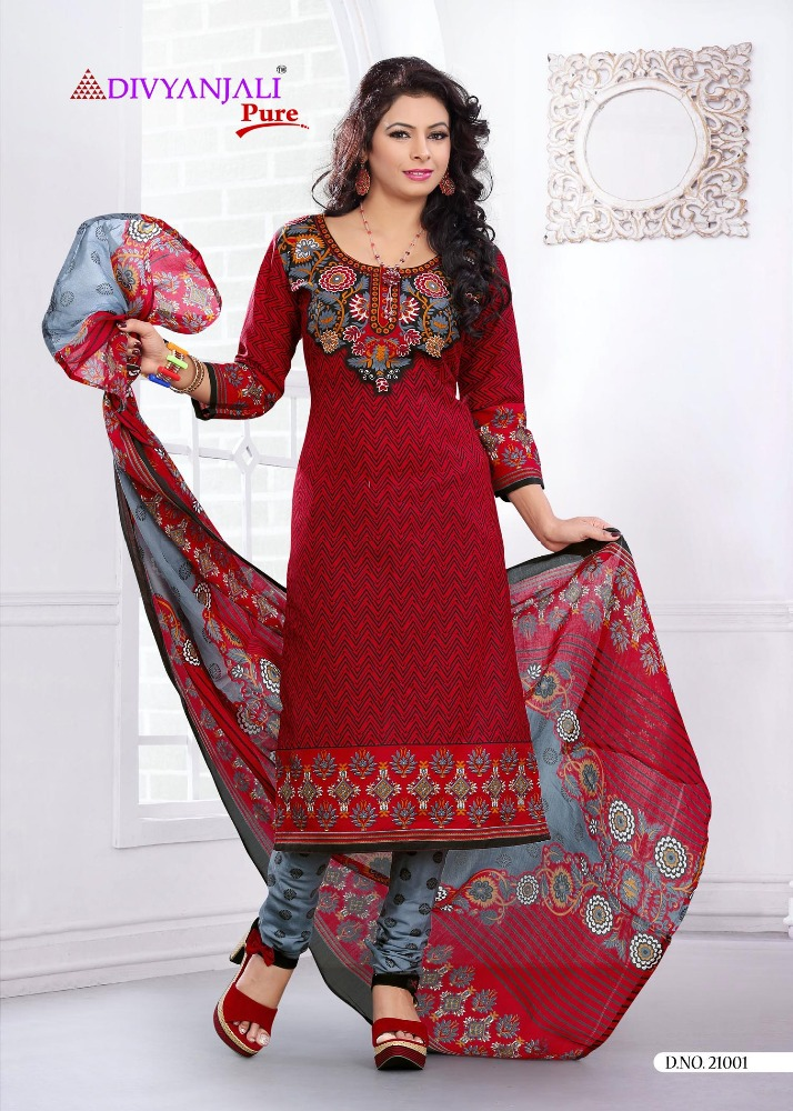 Indian Ethnic Casual Cotton Printed Women Salwar Kameez Dress Material