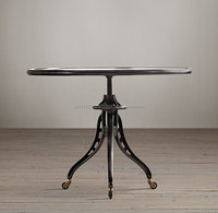Cast Iron Adjustable Coffee Table With Wheels
