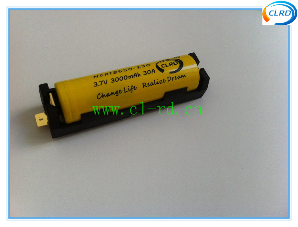 1042 3.7v Cylindrical Holder Single 18650 Battery Holder With Smd ...