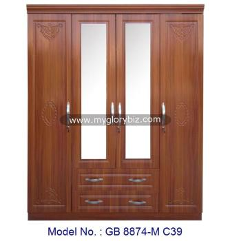 Lovely 4 Door Wardrobe Cabinet, Bedroom Almirah Designs, Wooden Wardrobe