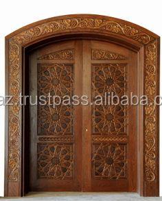 Solid Wood Double Doors Teak
