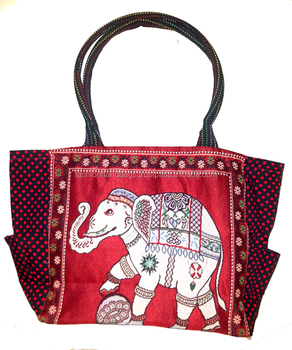 Elephant Design cotton canvas Tote Bag