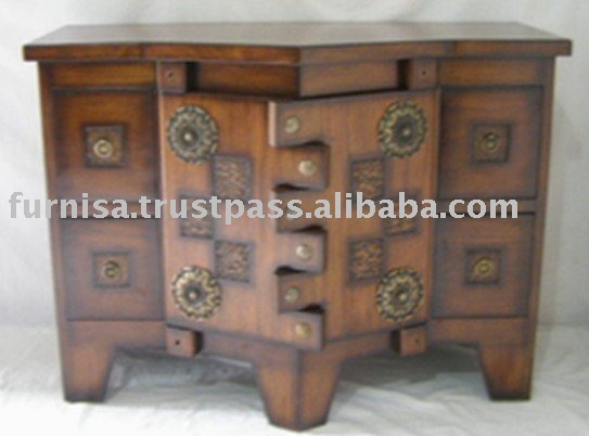 Nacas Bambu Antique Design Living Room Cabinet