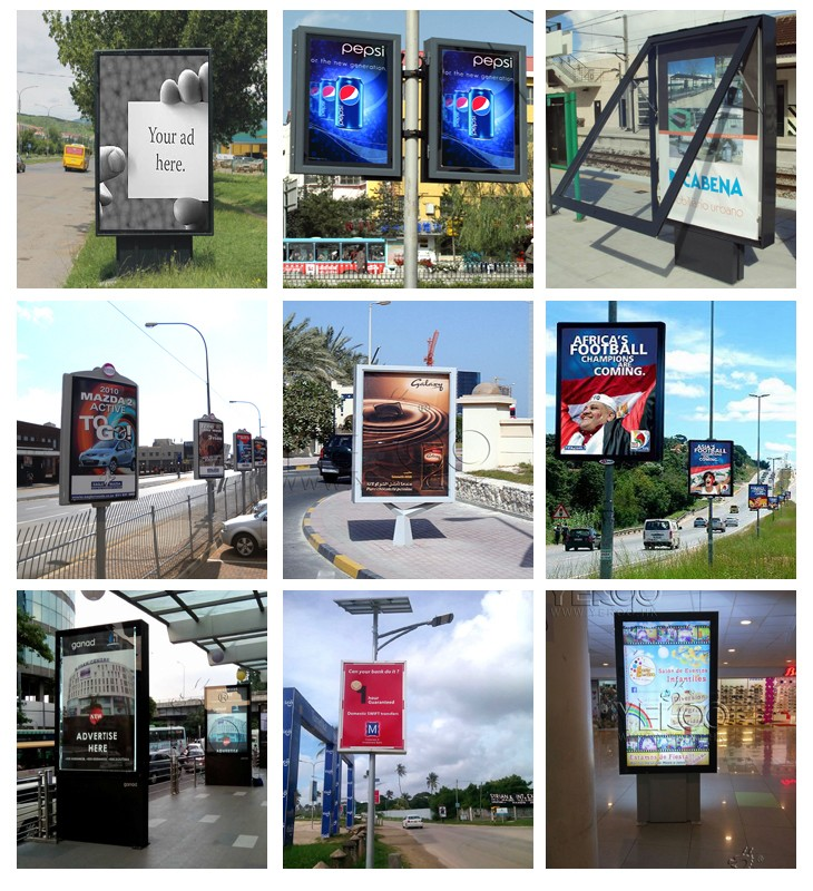 Double Sided Street Pole Advertising Board/lampost Ad Display ...