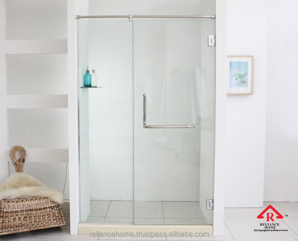 Reliance Home REH 100 Frameless Wall to Glass Swing door shower screen door