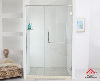 confianza casa reh de pared sin marco para puerta abatible de vidrio mampara de ducha