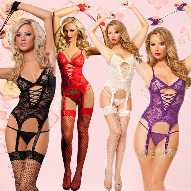 2017 new arrival sexy lingerie hot 4 color nightclubs pole dance sexy costumes Inmates handcuffs SM cosplay erotic lingerie