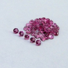 Natural Pink Tourmaline Round Faceted Cut 3mm - 6mm Calibrated Size Loose Gemstone