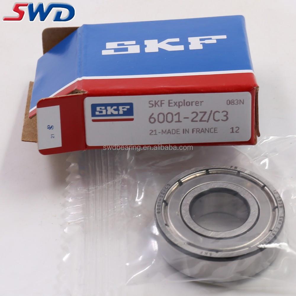 Bearing SKF brand 6001-2Z C3 metal shields 6001-ZZ ball bearings 6001Z