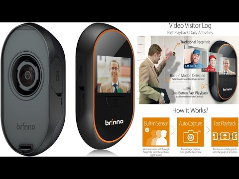 "Brinno PHVMAC12 Motion Activated Digital Peep Hole Viewer With Motion Sensing Viewer 3"" LCD Panel"