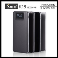 Mobile phone gadgets 12000mAh LCD External Power Bank Backup Dual USB Battery Charger for iPhone HTC