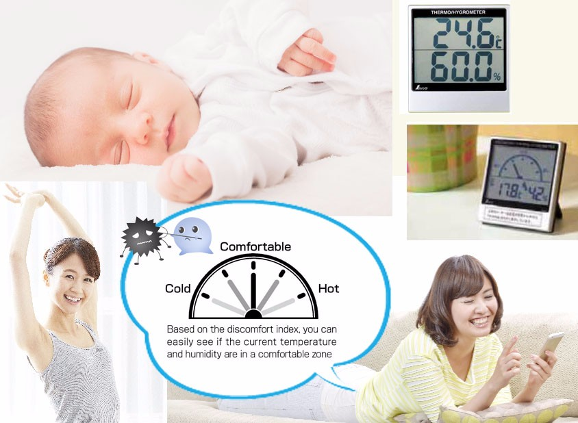 High Quality Digital Thermometer Hygrometer Made in Japan