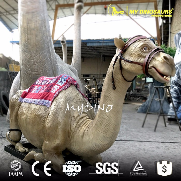 My-dino live size animatronic camel sculpture