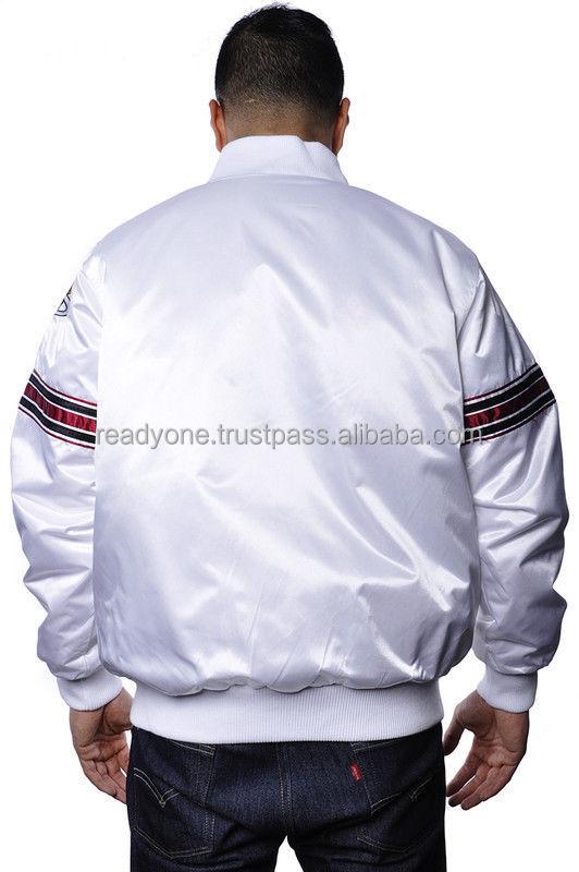Satin Baseball Varsity JacketWhite Satin Varsity Jacket - Buy