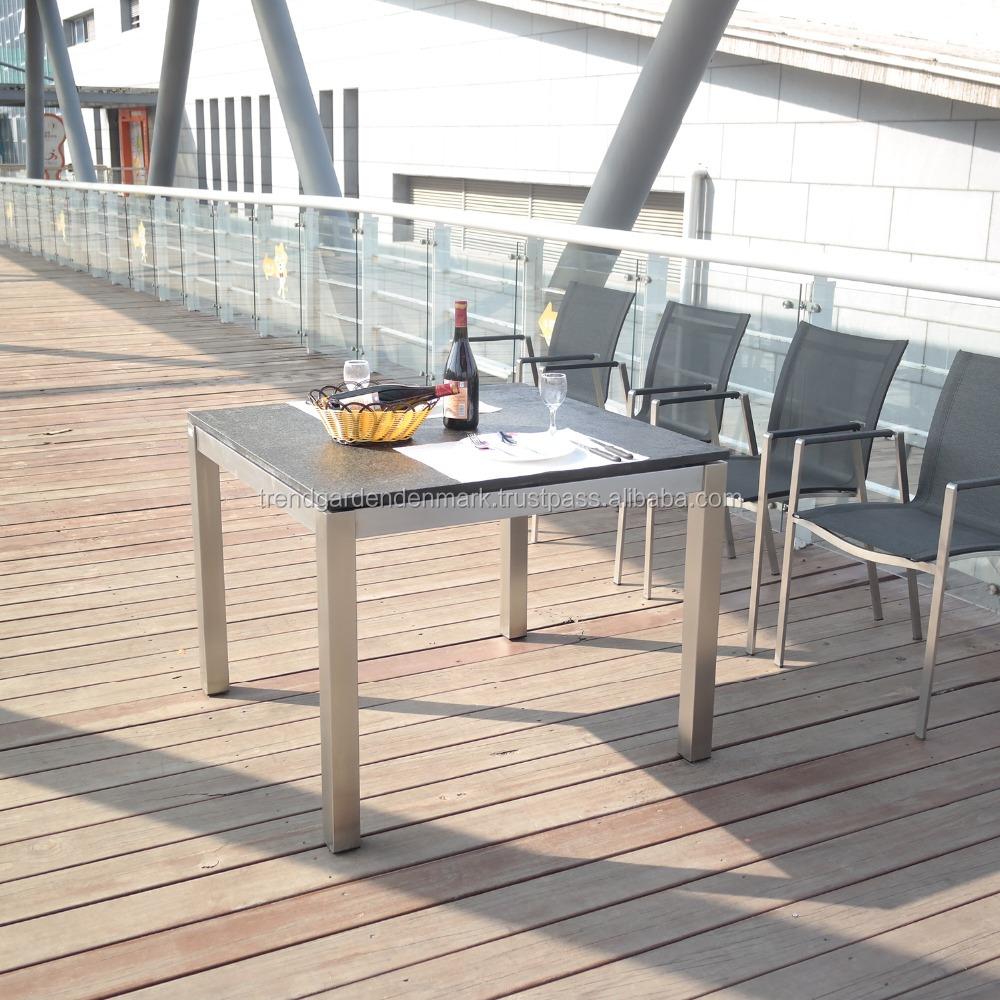Stainless steel outdoor granite table garden furniture