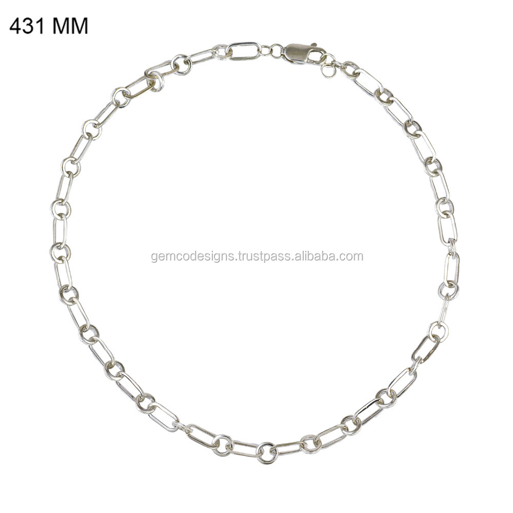 Handmade 925 Sterling Silver Chain Jewelry, New Design Silver Chain For Women, Latest Design 925 Silver Chain Wholesale Jewelry