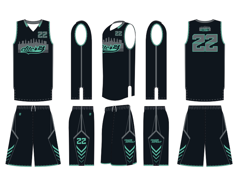 Professional Polyester Basketball Jersey Design In Micromesh Fiber