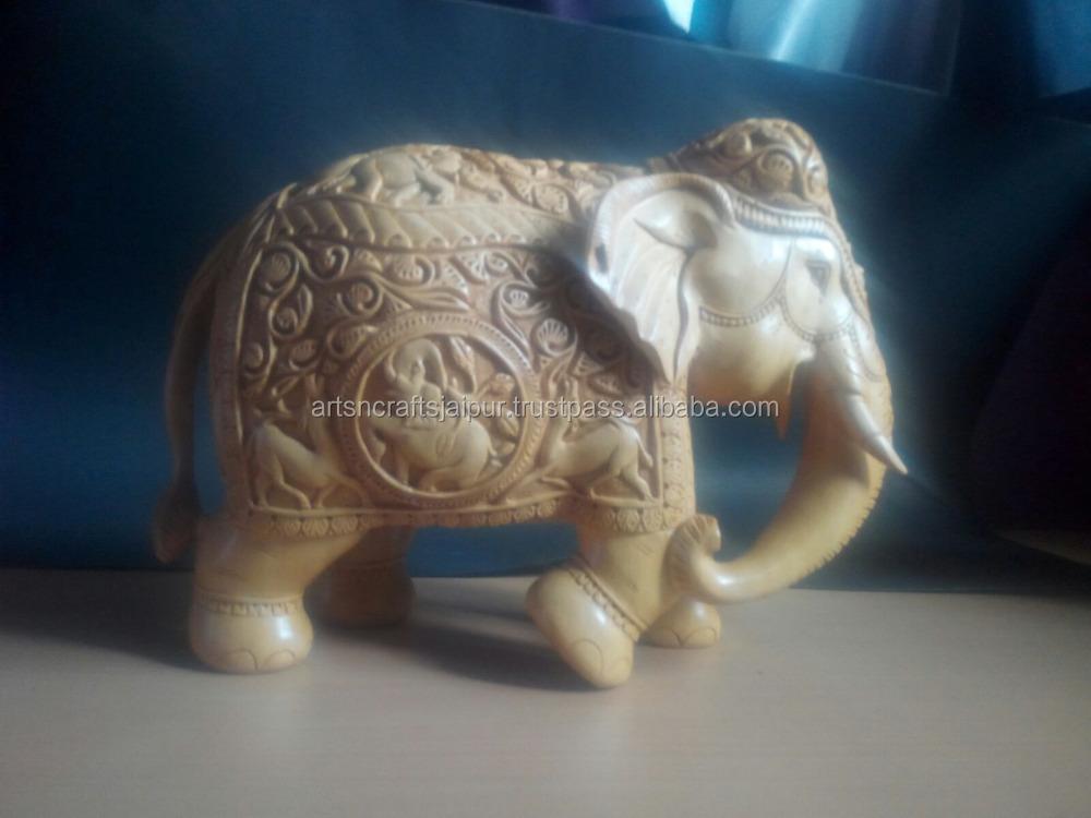 Art And Craft Handmade Gifts Asian Art Beautiful Wooden Elephant ...