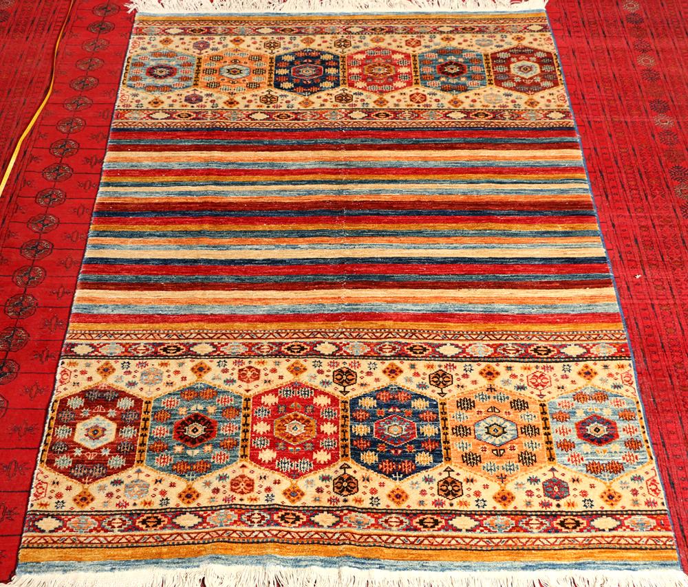 Khorjin Rug Afghan Handknotted